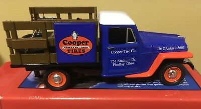 1953 Willys Jeep Stake Bed Truck Die Cast Cooper Tires Bank