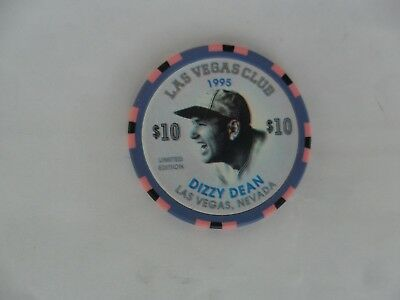 $5 Las Vegas Club Dizzy Dean Chip St Louis Cardinals Chicago Cubs Obsolete