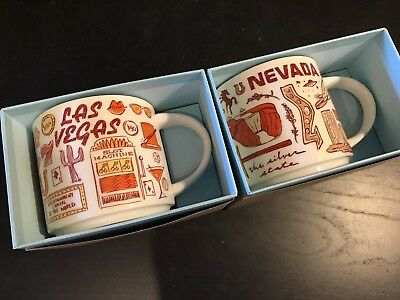 Set of 2 Starbucks Coffee Been There Series Mugs 2018 LAS VEGAS and NEVADA BNIB