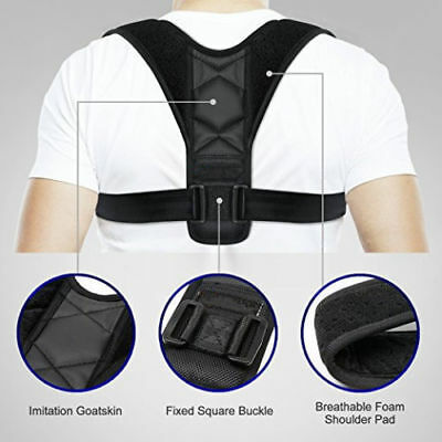 Posture Clavicle Support Corrector Back Straight Shoulder Brace Strap Correct OZ