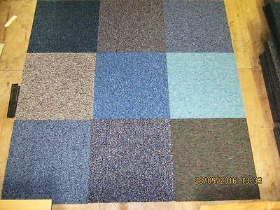 Mixed Hard Wearing Carpet Tiles Brand New Perfect only £25 per box of 20