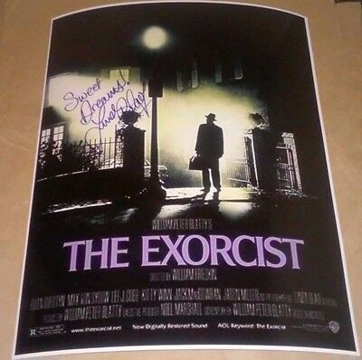 """Linda Blair Signed Autographed The Exorcist 11X14 Movie Poster """"Regan"""" W/Proof"""