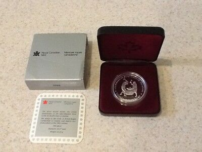 1988 Canada Silver Dollar Coin - COA .500 $1 Royal Mint Saint-Maurice Ironworks