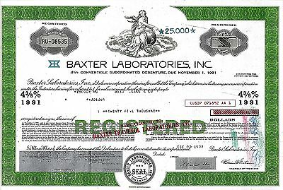 Baxter Laboratories Inc., 1977,  4 3/8% Debenture due 1991 (25.000 $)