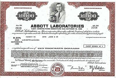 ABBOTT Laboratories, 1976,  9,20% Sinking Fund Debenture due 1999 (10.000 $)