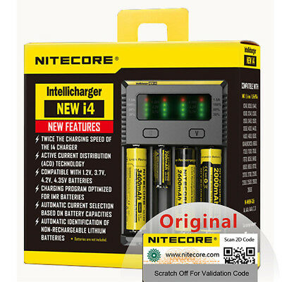 NITECORE New i4 Universal Battery Charger Intellicharger for Li-ion 18650 26650