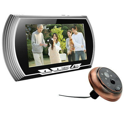 "140 Angle 4.3"" LCD Wide Peephole Doorbell Viewer Home Security Eye Smart Silver"