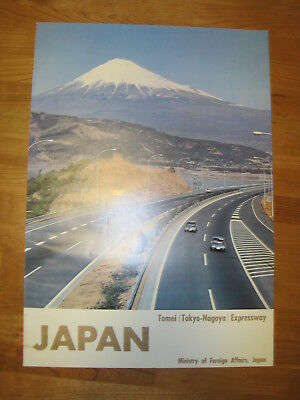 """Japan-Tomei(Tokyo-Nagoya) Expressway"" poster, ca 1970, Ministry of Foreign Affa"