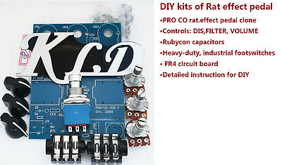 DIY kits of classical distortion effect pedal clone Pro rat