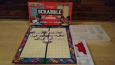 VINTAGE RETRO JUNIOR SCRABBLE Word Board Game By Spears Games Complete 1959