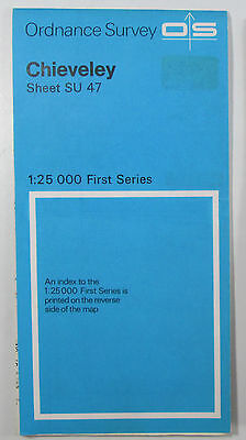 1973 Old Vintage OS Ordnance Survey 1:25000 First Series Map SU 47 Chieveley