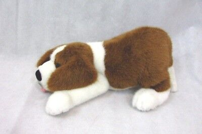 """Vintage St Bernard Plush Dog Playful Pup Nose to Floor & Rump in the Air 15"""""""