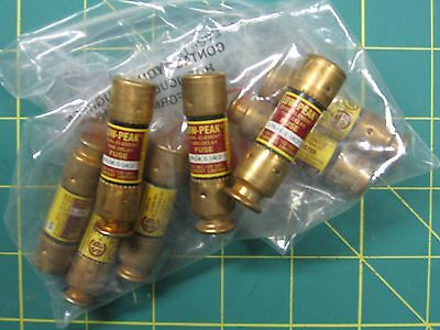 Eight Bussmann LPN-RK- 6.25SP, Low Peak Time Delay Fuse, 250 VAC 125 VDC - NOS