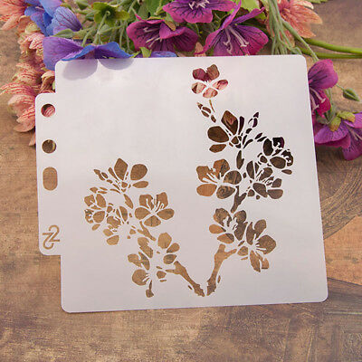 Reusable flowers Stencil Airbrush Art DIY Home Decor Scrapbooking Album Craft PD
