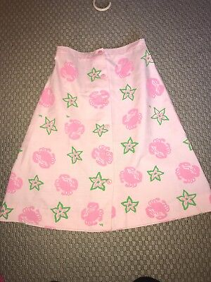 Vintage 70s The Wee Gentress Crab Starfish Skirt - Size 12 - The Vested Gentress