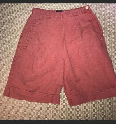 Vintage 90s Gap High Waisted Linen Shorts - Size 4