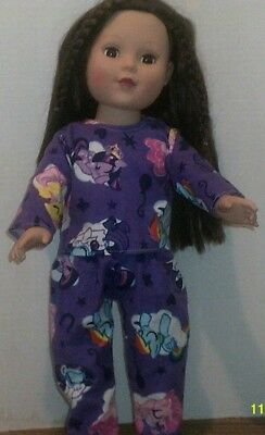 "18"" Doll Clothes-fit American Girl Boy My Life-Top/Pants--Pajamas-Little Pony"