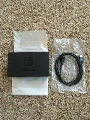 Brand New Genuine Nintendo Switch Console Tablet TV Dock Station & HDMI Cable!