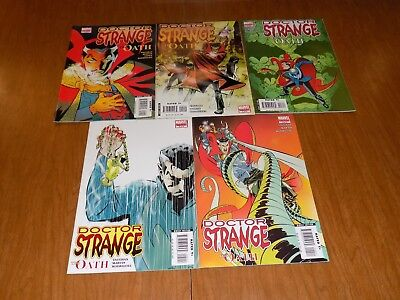 "Doctor Strange ""The Oath"" #1, 2, 3, 4, 5 COMPLETE SET! Dr. Strange, Avengers,WOW"