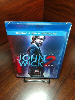 John Wick Chapter 2 (Blu-ray+DVD/HD Digital)NEW-Free Shipping with Tracking