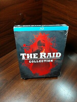 The Raid Collection 1 & 2 (Blu-ray,2 Disc Set)Slipcover-NEW-Free S&H w/Tracking