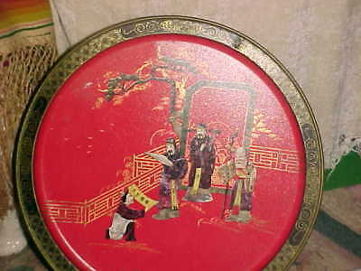 VTG Mid Century Asian Double Sided Scenes TIN TANG DYNASTY LOVE ATTAINMENT SUNSH
