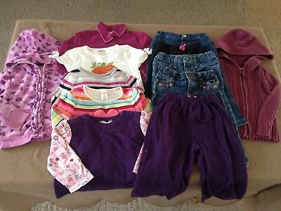 Girl's 12-piece lot clothing size 2T/24 months jeans pants shirts hoodies outfit