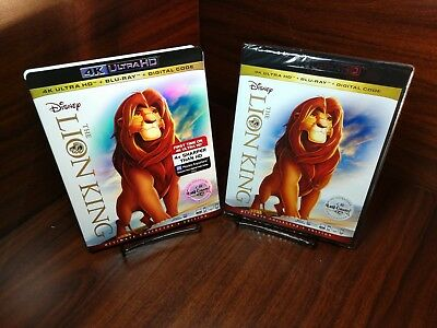 Disney's Lion King (4K UHD+Blu-ray/HD Digital)Slipcover-NEW-Free First Class S&H