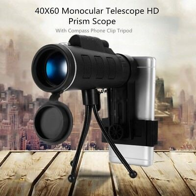 NEW 10X42 Telescope Celestron Tripod Handheld Monocular Low Night Vision Prism