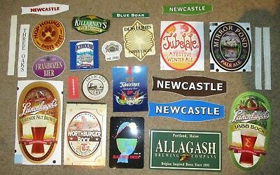 25 BEER STICKER PACK LOT decal craft beer brewing brewery tap handle C