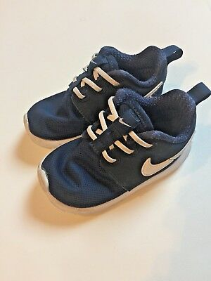 6ee709d36f8ab Kids Baby Nike Roshe One 1 Lifestyle Navy Blue White Shoes 8c 749430 416  F288