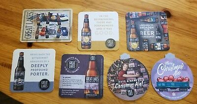 Great lakes brewing company COASTER COLLECTION, set of 7. New.