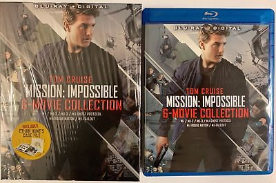 Mission: Impossible 6 Movie Collection Blu Ray 7 Disc Set + Slipbox & Case Files