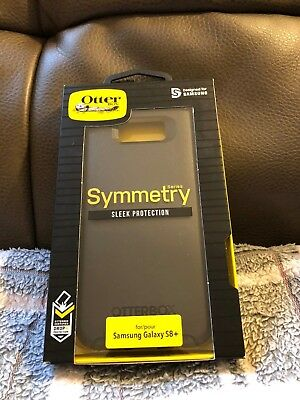 OtterBox Symmetry Samsung Galaxy S8+ Plus Hard Shell Case Snap Cover (Black) New