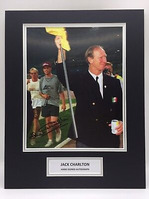 RARE Jack Charlton Ireland Signed Photo Display + COA AUTOGRAPH WORLD CUP 1990