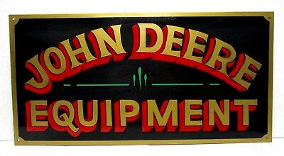 Vintage Hand Painted Steel JOHN DEERE Service SIGN Tractor Farm Advertisement