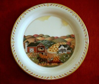 LENOX COLLECTOR PLATE - SCENES OF AMERICA - PENNSYLVANIA HARVEST 1992 - Amish
