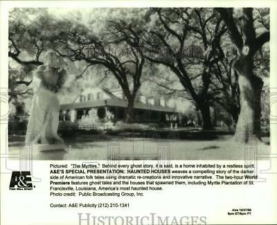 "1996 Press Photo View of Myrtle Plantation of St. Franciscville in ""The Myrtles"""