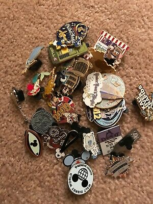 Disney Trading Pins-Lot of 25-HM-LE-Rack Plus Free Land yard-Free Shipping