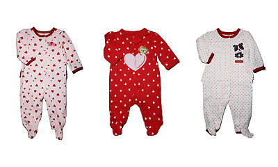 *nwt- Carter's - Baby Girl's Valentine Sleep And Play - Size: Nb - 3-6M