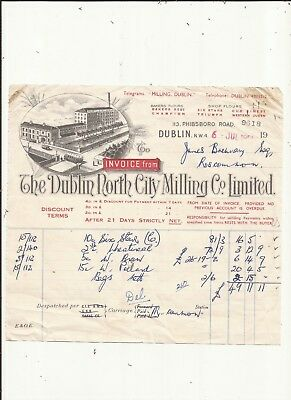 Ireland. Invoice from the Dublin North City Milling Co Ltd from 1953