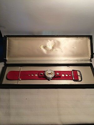 Vintage Mickey Mouse Ingersoll Wrist Watch Walt Disney original black band/case