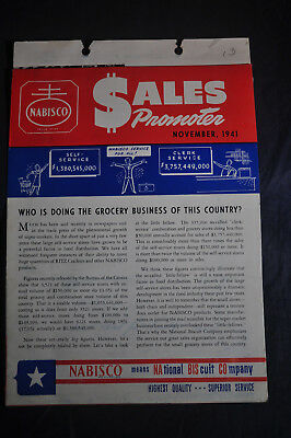 1941 NABISCO Sales Promoter - National Biscuit Company