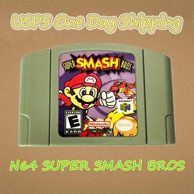 Tested - N64 Super Smash Bros Nintendo 64 Game Card