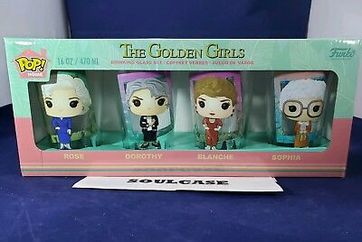 New FUNKO Pop! The Golden Girls Drinking Pint Glass Set of 4
