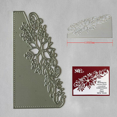 Flower Corner Xmas DIY Postcards 3D Stamp Metal Cutting Dies Christmas Craft