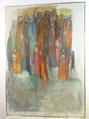 VINTAGE ABSTRACT MODERNIST PAINTING Mid Century New York 1950's Willa Imich