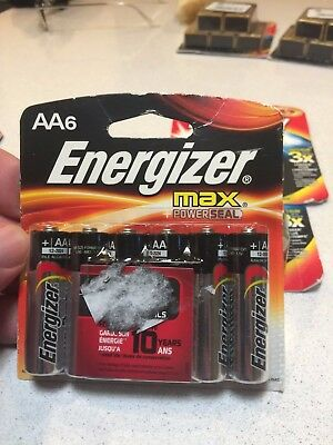 Energizer AA Max Alkaline E91 Battery 6-PACK