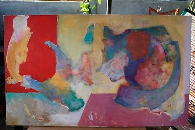 """Original Acrylic on Canvas Abstract Painting Modern Art Large 36"""" by 60"""" Artist"""