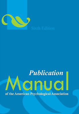 Publication Manual of the American Psychological Association, 6th Edition, eB00k